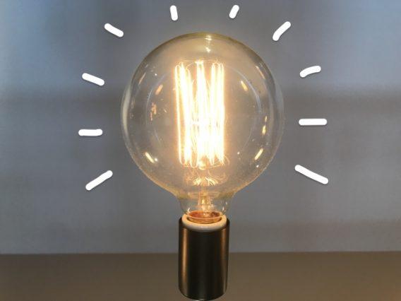 閃きの電球