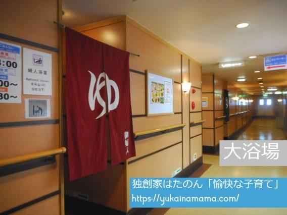 フェリーさんふらわあ別府大阪の船内にある大浴場
