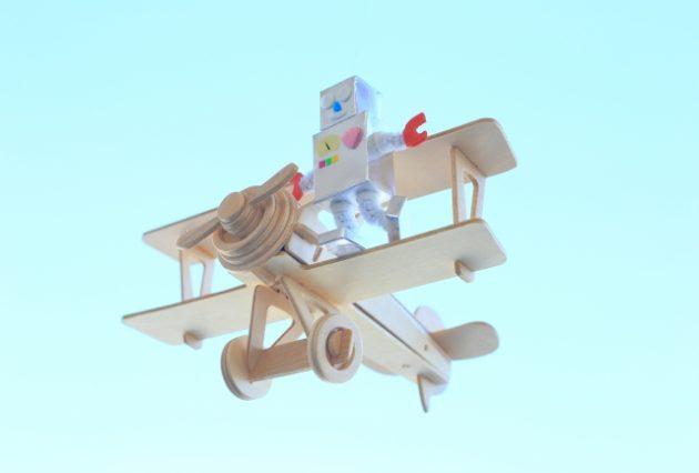 夢と希望をのせたロボット飛行機