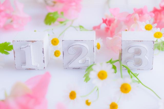 お花と数字