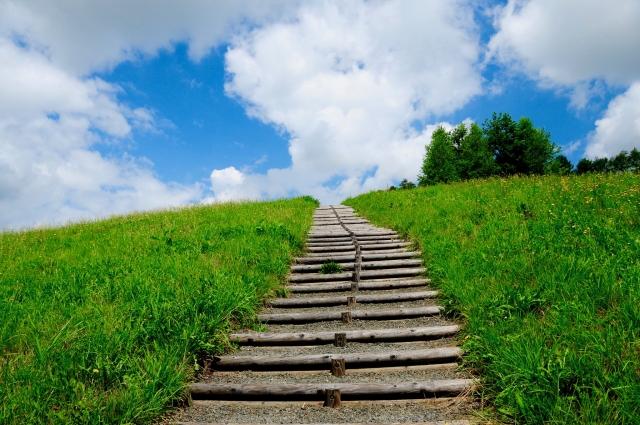 未来へつながる階段